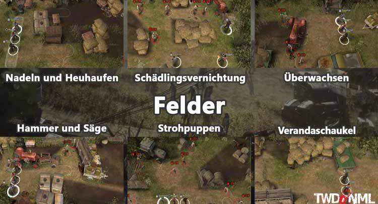 Felder - Kartenübersicht
